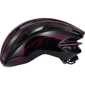 HJC IBEX Road Casque, gloss burgundy / black